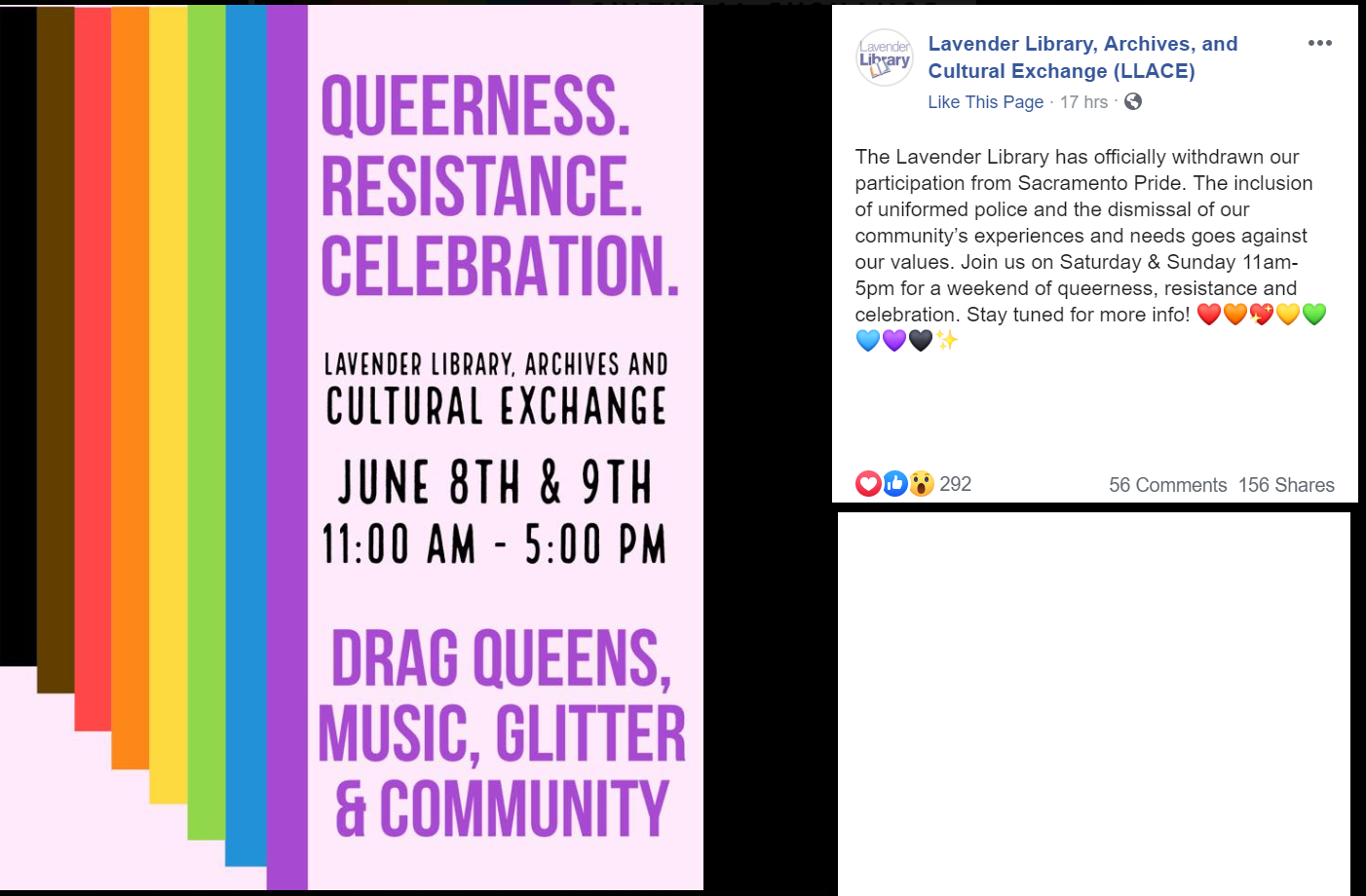 a pride related event hosted by the lavender library