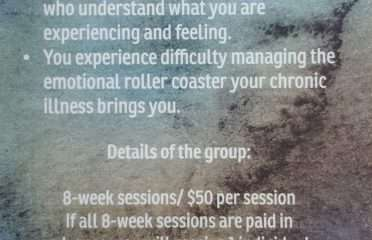 chronic illness therapy group flyer