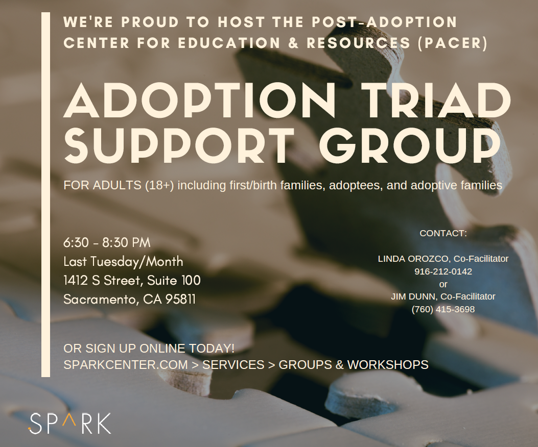 adoption triad therapy group flyer