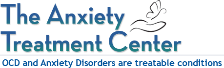 Logo for Anxiety Treatment Center with a hand below a butterfly in flight