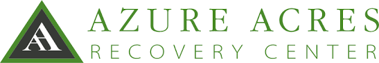 Logo for Azure Acres with two letters A inside a Triangle to the left of the text