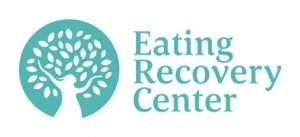 Logo for Eating Recovery Center with image of a person raising arms surrounded by foliage to look like a tree in bloom