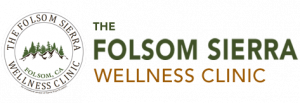 Logo for Folsom Sierra Wellness Center with emblem of mountains next to the name