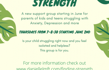 Support group flier for parents of kids with depression