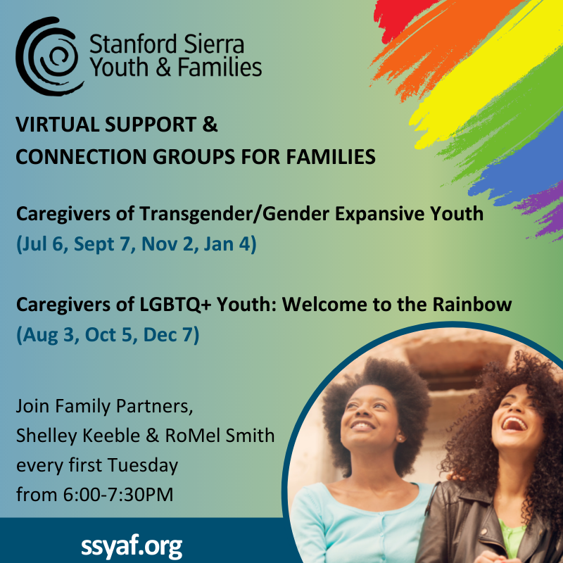 Stanford Sierra Youth and Families is offering two new LGBTQ support groups